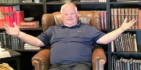 FORNØYD: Markedssjef Tore Hübenthal i Romerike Golfklubb fryder seg over den sterke medlemsveksten i 2021.