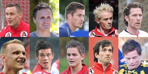 Lars Fisketjøn mener at dette er de ti beste aktive fotballspillerne fra Jæren.