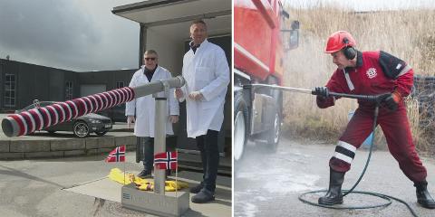 TO AV DE MEST SETTE: Lanseringen av verdens første koronasmittefrie iskremkanon, og lastebilvaskende Ingvar Kvia er to av videoene som har notert seg for flest visninger i Jærbladets systemer.