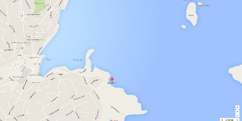 Her kan det bli nytt ferjestø på Stord. (Googlemaps)