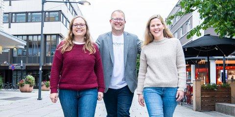 Stine Løkstad, Bjørn Ivar Bergerud og Tina Aardahl.