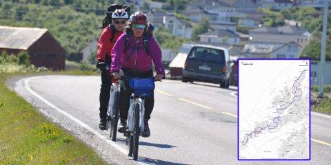 SYKKELTURISME: Asplan Viak AS inviterer Lofotrådet til å diskutere sykkelrute i Lofoten.