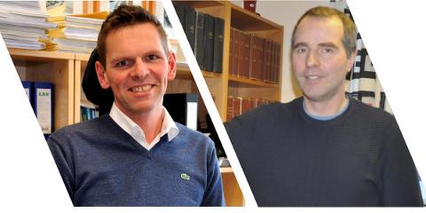 Advokat  Stig Erik Mortensen og advokat Knut-Inge Myklebust deler vervet som offentlig oppnevnt forsvarer i Lofoten.