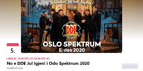 LURERI: På Facebook ble denne siden som reklamerer for D.D.E.s julekonsert i Oslo Spektrum nylig lagt ut. Problemet er at konserten er avlyst og siden er falsk. Bandet er frustrert over at slike svindelforsøk har blitt mer vanlig den siste tida.