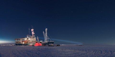 SNART LØS: «Lance» driver nå sørover med iskanten i sikte. Her er skipet fotografert ved en tidligere anledning.