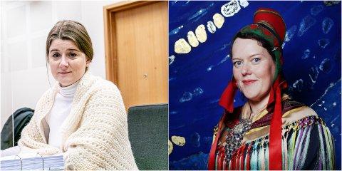 SIER DETTE ER LØGN: Styreleder Grete Ellingsen (til venstre) satte foten ned da Sametingets Silje Karine Moutka skulle holde åpningstalen på en utstilling på museet hun er styreleder for, ifølge avgått direktør. Løgn, svarer Ellingsen.