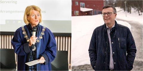 LUKKET MØTE: Styreleder og rektor Anne Husebekk ved UiT lukker fredagens styremøte når rapporten om ny rektor Dag Rune Olsen skal diskuteres.
