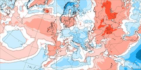 KALDE PROGNOSER: Kaldere enn normalt i nord, viser ukesvarselet.