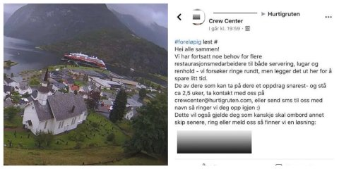TILBUD: På en lukket Facebook-gruppe gis det tilbud om jobb. Nord24/Nordlys har sladdet personopplysninger.