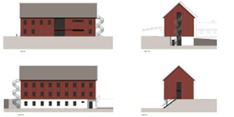LÅVEINTERNATET: Slik framstår det ene av to nye internatbygg på Valle, Låveinternatet, på tegnebrettet.