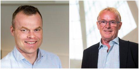 SØKER: Tidligere fiskeriminister Per Sandberg ønsker å bli avdelingsdirektør for samfunnsutvikling i Nordre Land kommune. Blant søkerne er også Espen Granberg Johnsen (til venstre), avtroppende ordfører i Lillehammer.