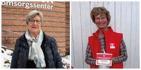 KRITISKE:Styreleder i Gjøvik demensforening Viviane Mellbye t.h og nestleder Liv Thorsen mener forslaget rammer de aller svakeste i samfunnet.