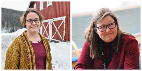 KAN BLI LEDER: Elisabeth Gjems (t.v.) eller Kristina Hegge. Gjems er nåværende fylkesleder i Hedmark Bondelag. Hegge er nåværende fylkesleder i Oppland Bondelag.