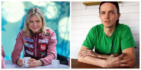 Både Maren Lundby og Jan Kåre Heiberg har tilbudt seg å hjelpe folk som har det vanskelig under koronakrisa.