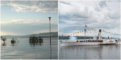 FLOM: Store vannmasser har ført til ruteendringer for Skibladner.