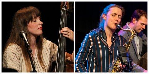 DUOJAZZ: Ellen Andrea Wang (t.v.) og Hanna Paulsberg gjør en eksklusiv duokonsert på Peder Balke-senteret 20. august.
