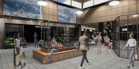 Kjøpesenterets nye eiere ønsker å modernisere Strandtorget, og ser for seg et mer moderne senter.