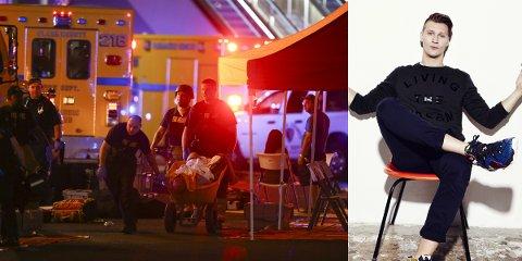 I LAS VEGAS: Tom Stræte Lagergren, kjent som Matoma, skulle opptre i Las Vegas søndag kveld. Han fikk føle masakren på nært hold.