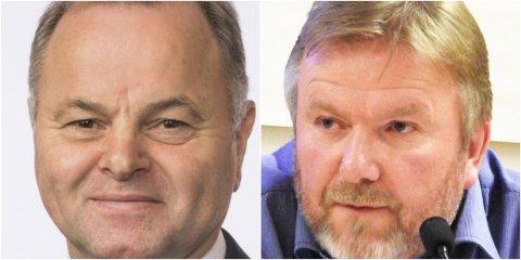 Olemic Thommessen (H) og Bengt Fasteraune (Sp) er bekymret over regjeringens forslag til Intercity-kutt.