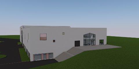 Illustrasjonen viser hvordan allaktivitetshuset på Gruben er planlagt.