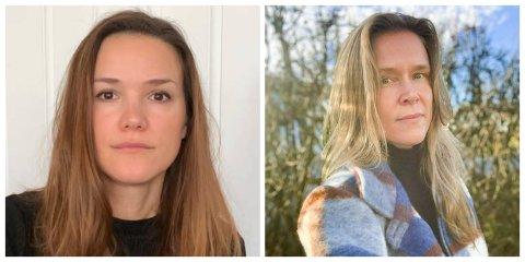 JOBBER MED SMITTESPORING: Elvira Hansen (40) (t.v.) og Reidun Hoholm (42) er to av dem som nå har en hektisk jobb med smittesporing på Hedmarken.
