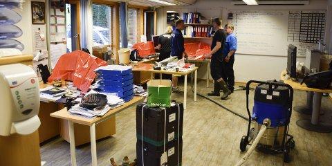 I Ringerike kommunes vann- og avløpsetat var driftsleder Anders Gulbrandsen og de ansatte usikre på om datamaskinene ville virke etter lekkasjen.