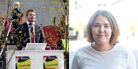 Varaordførerkandidat Håkon Ohren (AP) og nestleder i Ringerike og Hole AUF, Tora Alvilde Hagen Tungesvik, er fornøyd med gjennomslag hos Buskerud Arbeiderparti. Vedtaket innebærer fordeler for aviser som har ungdomsredaksjoner.
