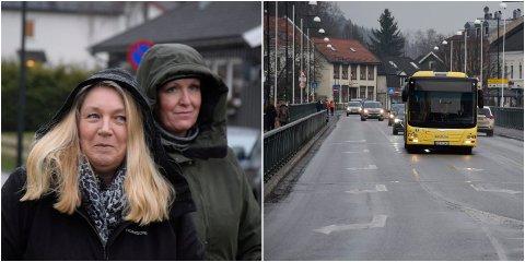 FOR OG IMOT: Eli Marie Hanserud (Frp) synes at forslaget om sykkelfelt til venstre på bybrua høres lite gjennomførbart ut. Tove Mette Pedersen (V) er for sykkeltiltak, men ser også noen problemer med løsningene.