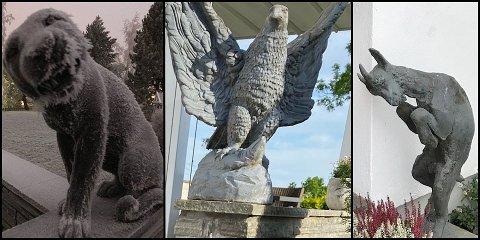 BORTE: Disse sjeldne skulpturene er sårt savnet fra en adresse på Kjeller.