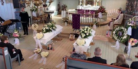 Tirsdag 2. mars ble Victoria Emilie Næristorp-Sørengen (13) og Ann-Mari Olsen-Næristorp (50) begravet fra Gjerdrum kirke.