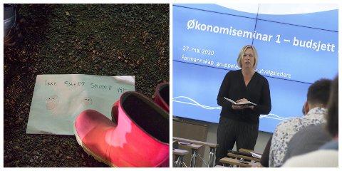 VIL BEHOLDE: 310 elever og andre engasjerte deltok på skoaksjonen på Galleberg skole forrige torsdag. Ordfører Elin Gran Weggesrud mener stadig at det er riktig å opprettholde Galleberg skole.