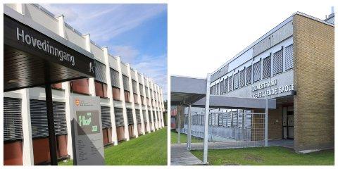 LEDIGE PLASSER: Sande og Holmestrand videregående skole.
