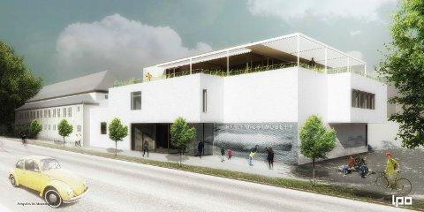 FASADE: Slik vil Hvalfangstmuseet framstå mot Museumsgata.