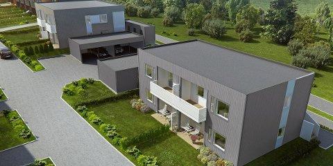 FERDIG: Fire av leilighetene på Kleivane Toppen vil selges fullt ferdig med møbler og hvitevarer. Leilighetene vil være ferdig på nyåret 2016.