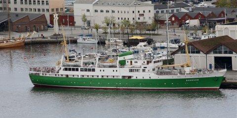 KJENT SYN: Den nye lederen håper å se skipet oftere i Sandnes, selv om MS «Sandnes» neppe skifter adresse permanent fra Stavanger med det aller første.