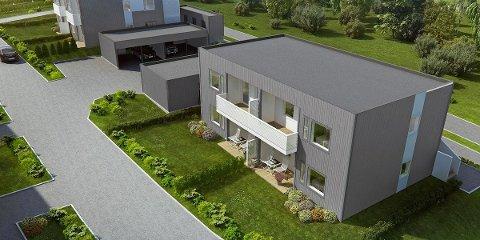 FULLT FERDIG: Fire av leilighetene på Kleivane toppen vil selges fullt ferdig med møbler og hvitevarer. Leilighetene vil være ferdig på nyåret 2016.