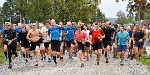 MANGE: Det var meget god deltakelse i Torsdagsløpet denne uken.