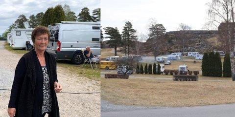 PÅSKEÅPENT: Marit Hilmersen var ikke vond å be, da mange hadde henvendt seg til henne for å holde åpent i påskehelga. I påsken forventer hun opp mot 60 vogner.