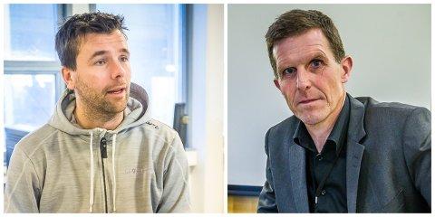 Joachim Tangen (til venstre) kjemper for å sitt treningssenter. Direktør Samfunn i Sarpsborg kommune, Sigmund Vister, forteller at kommunen nå vurderer om de skal anke saken til lagmannsretten.