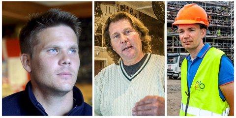 Anders Kristiansen (fra venstre), Morten Granli og Tommy Heggenes står alle bak noen av de nyetablerte selskapene i Sarpsborg.