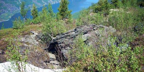 USTABILT: Bergarten fyllitt i fjellområdet Stampa-Joasetbergi gjer at somme parti blir meir ustabile.