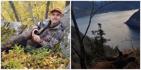 SPEKTAKULÆRT: Tor Olav Kvam (20) knipsa dette blinkskotet frå Kvamsbergi med utsikt mot Aurland: - Det er ikkje ofte eg hugsar på å fotografera, men slike motiv må ein fanga.