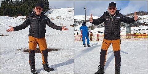 SKILNAD: Per Odd Grevsnes måtte stenga den nedste delen av Sogndal Skisenter grunna snømangel, men i Rindabotn var det full fres med gode forhold fredag.