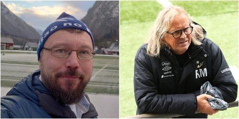 BOIKOTT: Øyvind Heimset Larsen og Saftkokaradn oppmodar til boikott av Qatar-VM, og vil ha med seg Rasmus Mo og Sogndal Fotball til å gjera det same.