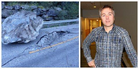 RAS: Vossapendlar og aurlandsrådmann Steinar Sørgaard vil sleppa å uroa seg for at steinar som denne skal koma ned mellom tunnellane dersom regjeringa sitt forslag til NTP blir vedteke.