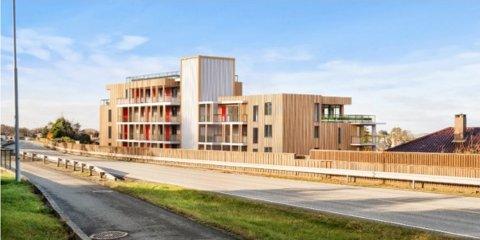 Slik kan leilighetsbygget i Hellevegen bli seende ut. Planen er at det skal huse 19 leiligheter men rådmannen og utbygger er ikke helt enige om det.