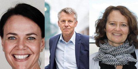 Heidi Kristin Ormstad, Kristian Bogen og Ingvild Marheim Larsen har blitt tilbudt tre topplederstillinger ved USN. Foto: USN