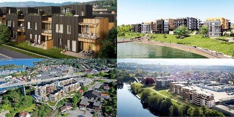MANGE PROSJEKTER: Det kommer mange nye prosjekter med leiligheter i Grenland i årene fremover. Flere utbyggere avviser at markedet er mettet.