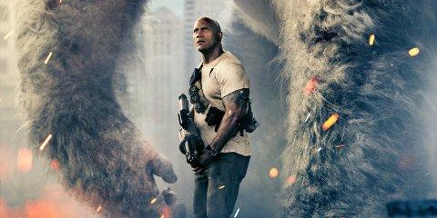 """Dwayne """"The Rock"""" Johnson er tilbake med filmen """"Rampage""""."""