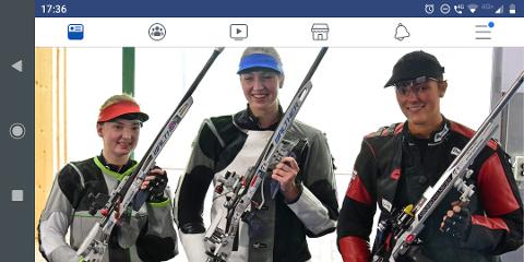 PÅ PALLEN: Jeanette Hegg Duestad (til høyre) kom på tredjeplass i helmatch i World Cup tirsdag. HJder sammen med vinneren Anna Janssen og toeren Melissa Ruschel, begge fra Tyskland.